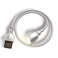 Wholesale eye cable for sale - Group buy USB Light LED Night Light Switch Bright Flexible Light Lamp USB Cable Reading Lamp Laptop Notebook PC Computer Eye Care Q0625