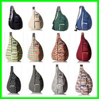 Wholesale adjustable bag - Kavu Rope Bag Men Women Sports Canvas Bag Unisex Fashion KAVU Shoulder Bag with Adjustable Shoulder Strap Compact Backpack Design KAVU