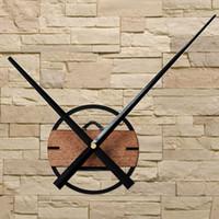 relógios de flores de acrílico venda por atacado-Grande Relógio de Parede Design Moderno Grande Ponteiro Clássico DIY Relógios De Parede De Madeira Relógio de Decoração Para Casa Para O Quarto 3D Adesivos Silenciosos 12 cm