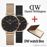 relojes amantes de lujo al por mayor-2019 marca Daniel mujer hombre Wellington's fashion dw Amantes mujer malla de acero oro para hombre relojes de lujo relojes montre femme