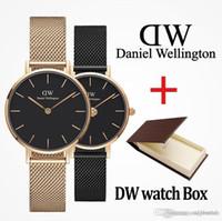 altınlar erkekleri izliyor toptan satış-2019 marka Daniel kadın erkek Wellington moda dw Severler kadın çelik hasır altın erkek lüks saatler montre femme relojes