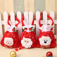 Wholesale merry Christmas decorations for Home accessories Christmas gift candy bag Santa Claus gift bag Cute Christmas Candy Tote