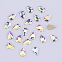 Wholesale nail shields wholesale - 100pcs crystal Flat Back Nail Rhinestones Shield Designs for Nails art Decoration Glass New Charms accessories supplies