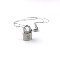 Wholesale good gifts for girls online - Luxury Brand Titanium Stainless Steel L Lockit Pendant Necklace Good Quality As gift for girl women Cute