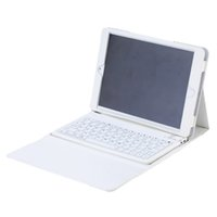 schutzhülle ipad air keyboard großhandel-Ultra dünne wasserdichte Multimedia-drahtlose Bluetooth Tastatur mit schützender faltender PU-Leder-Kasten-Abdeckung für iPad Luft iPad 5 6