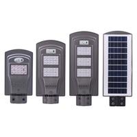 Wholesale led light ip65 - LED Solar Street Lights 60W 40W 20W (Radar Sensor + Photocell Sensor ) Led Steet Lights Waterproof Outdoor Led Lamps AC 85-265V