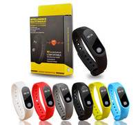 Wholesale M2 Smart Bracelet Heart Rate Monitor bluetooth Smartband Health Fitness Smart Band for Android iOS activity tracker With OLED Display
