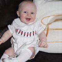garota de carrinho venda por atacado-De alta qualidade estilo do Reino Unido bebê romper verão manga curta 100% algodão romper do bebê Bordado Solider Cart Design menino menina romper