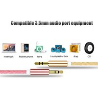 iphone auxiliary cord Australia - 1M Male to Male 3.5mm Universal Gold Plated Auxiliary Audio Stereo Jack Cable AUX Cord Jack to Jack Device