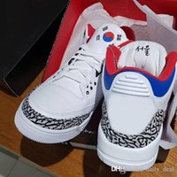 Wholesale men korea shoes - Authentic NRG OG 3 SEOUL KOREA White Red Cement 3S Man Woman Basketball Shoes Sneakers AV8370 100 With Original Box