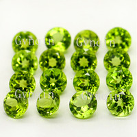 50pcs lot Free shipping natural peridot round faceted beads loose stones