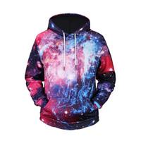 erkekler galaksisi sweatshirt toptan satış-Yeni Erkek / Kadın 3d Hoodies Tişörtü Erkekler Dijital 3d Baskılı Uzay Galaxy Hipster Hoodie Kazak Sonbahar Kış Hoody Tops