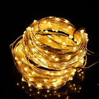 ingrosso luci di natale dell'adattatore di ca-30m 300LED Gorgeous Silver Wire Starry String Lights Per feste di Natale Wedding Outdoor Decorazione Starry Lights + Adapter DEL_123