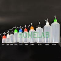 ingrosso illuminazione delle bottiglie di plastica-10ml 30ml 50ml 60ml 120ml E Bottiglie di liquidi E-Sigarette PE Bottiglia di plastica vuota con ago in metallo per la conservazione di solventi liquidi oli leggeri DHL
