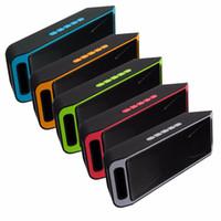 tablet için müzik hoparlörü toptan satış-SC208 SC-208 Kablosuz Bluetooth Hoparlörler kablosuz mini hoparlör için taşınabilir müzik Bas Ses Subwoofer Hoparlörler Iphone Akıllı telefon Tablet PC