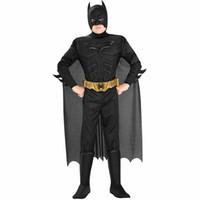 novo vestido de fantasia venda por atacado-Sexy new arrival crianças deluxe muscle cavaleiro das trevas batman criança halloween party fancy dress meninos superhero carnaval cosplay s920