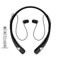 auriculares bluetooth cuello al por mayor-HV-980 Auriculares estéreo inalámbricos Bluetooth 4.1 Auriculares intrauditivos Auriculares con correa de cuello flexible con paquete comercial