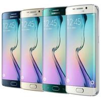 мобильный телефон 3g dual camera оптовых-Восстановленный оригинальный Samsung Galaxy S6 Edge G925F G925A G925V G925T G925P 5.1 дюймовый восьмиядерный 3GB RAM 32GB ROM 16.0 MP Камера LTE NFC DHL 1шт