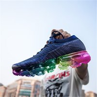 Wholesale Hot Tennis - HOT SALE WITH BOX 2018 New Vapormax Rainbow BE TRUE Gold White Red Pink Women Men Mens Designer Running Shoes Sneakers Brand Trainers