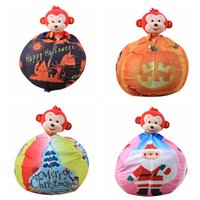 Wholesale wholesale race clothes online - Christmas Storage Bean Bag inch Styles Halloween Stuffed Animal Storage Chair Kids Clothes Toy Outdoor Bags OOA5534