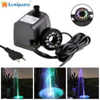 ingrosso illuminazione fontana sommergibile-LumiParty Mini pompa sommergibile per acqua con luce a LED per acquari KOI Fish Pond Fountain Waterfall jk35
