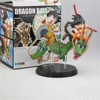 ejderha top z oyuncaklar ücretsiz gönderim toptan satış-Dragon Ball Z fantastik sanatlar action figure oyuncak Gokou Shenron set koleksiyonu ücretsiz kargo 14 cm