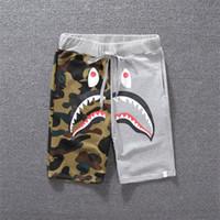 joelho comprimento vestuário venda por atacado-Designer de luxo Shorts Verão Shorts Dos Homens Calções de Skate Calça Na Altura Do Joelho Animal Impresso Roupas Tipo de Encerramento Cordão Meados Cintura M-2XL
