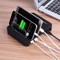 cargador multi para tabletas al por mayor-Cargador de pared rápido de 4 puertos USB múltiples Base de carga rápida para iPhone Samsung Tablet con caja de venta al por menor