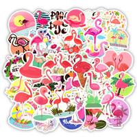 bureau étanche achat en gros de-50 PCS Étanche Flamingo Autocollants Jouets pour Enfants à Bricolage Ordinateur Portable Réfrigérateur Bureau D'écriture Tasse Partie Décoration de La Maison Cadeaux pour Enfants Adolescents Adulte