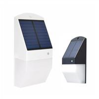 ingrosso lampada solare ad alta potenza-2018 nuovo stile di alta qualità esterna impermeabile IP65 Solar Power LED da esterno giardino lampada da parete luce passo