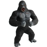 gorilla spielzeug großhandel-19 cm Action-figuren Tier Schimpanse King Kong Schädel Insel Gorilla PVC Action Figure Modell Spielzeug Puppe Für Jungen Geschenk