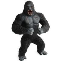 erkek çocuk oyuncak bebekleri aksiyon toptan satış-19 cm Aksiyon Figürleri Hayvan Şempanze King Kong Kafatası Ada Gorilla PVC Action Figure Model Oyuncaklar Bebek Boys Için Hediye