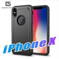 Wholesale red body armor - Hybrid Armor Cases 360 Full Body Coverage Drop Protection Rugged Shockproof Cases for Samsung Galaxy S9 S8 Note 8 for apple Iphone X 8 Plus