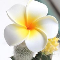 Wholesale frangipani artificial flowers resale online - 2 quot cm Summer Hawaiian PE Plumeria flower Artificial Frangipani foam Flower for headwear Home decoration