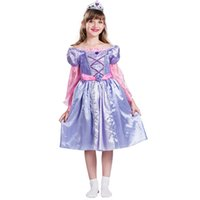 lila kostüm großhandel-Mädchen Purple Victorian Prinzessin Fancy-Dress Halloween-Kostüm