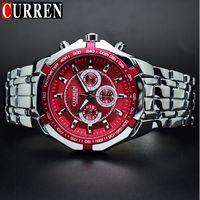 Wholesale big band - 2018CURREN Men Watches Top Brand Luxury Stainless Steel Man Watch Wrist Male Clock Curren Men Watches Big Relogio Masculino
