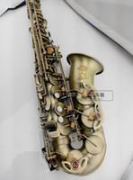 Wholesale antique bakelite - High quality selmer54 alto saxophone   wind E flat matte green antique saxophone Free shipment