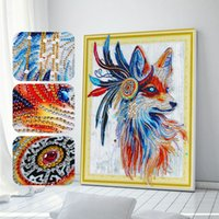 Wholesale cartoon paper squares online - Hot Diamond Painting irregularity Diamond Many Styles can be choosed For Room Paintings Decorations With High Quality Cross stitch canvas