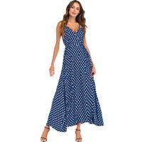 3XL 4XL 5XL Plus Size Maxikleid Frauen Polka Dot Kleid Sexy High Split  Spaghetti Strap V-Ausschnitt Slip Sundress Beach Long Red f18d1571c1
