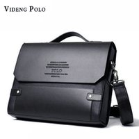 Wholesale male shoulder cross body bag - VIDENG POLO 2017 Brand Men leather Handbag Messenger Bags Fashion Crossbody Shoulder Bags Casual briefcases Male travel