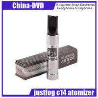 Wholesale dry clearomizer - Original Justfog C14 Clearomizer 1.8ml e-Liquid Capacity eGo 510 Body Pure taste without Dry Hits Materials DHL Free Shipping