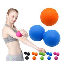 ejercicios de body ball al por mayor-Fitness Masaje de bola Terapia de disparo Activar todo el cuerpo Ejercicio Deportes Crossfit Yoga Bolas Relájese Relieve Herramientas de fatiga
