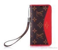 fundas de cuero para celular al por mayor-Para la cubierta de la caja del teléfono celular móvil Iphone 7 funda de cuero de negocios de lujo caso con marco de fotos de soporte