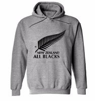 Wholesale wholesale sports clothes online - new men brand New Zealand all black hoodies rugby jerseys Cotton sweatshirt male hooded sports clothing