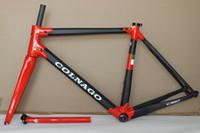 Wholesale Xs Frameset - 18 colors 2018 HOT SALE NEW colnago C60 road bike carbon frame full carbon fiber road bike frame size XS S M L XL T1000 carbon frameset