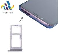 titular de la tarjeta sim dual al por mayor-Tarjeta SIM dual / Tarjeta SIM simple + Bandeja de ranura para soporte Micro SD para Samsung Galaxy S9 / S9 Plus