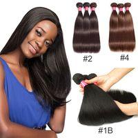 Wholesale weft 1b straight for sale - Grade A Mink Brazilian Straight Hair b Brazilian Virgin Human Hair Weave Bundles Brazilian Virgin Hair Straight