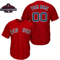 Wholesale steve baseball online - Mens Boston Red Sox World Series Champions Patch Custom Made Redsox David Ortiz Steve Pearce Baseball Jersey