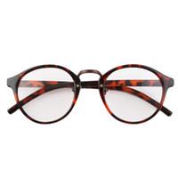 óculos geek venda por atacado-Wholesale-Hot! Retro Geek Leopardo Do Vintage Nerd Grande Quadro Moda Rodada Lente Clara Óculos Multicolor Venda Quente