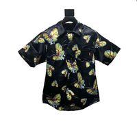 du liebhaber großhandel-18SS Schmetterlings-Druck-Hemd-T-Stück Retro Hautpstraße-Komfort-lose zufällige Mode-Mann-und Frauen-Liebhaber-Kurzschluss-Hülsen-T-Shirt HFSSX063